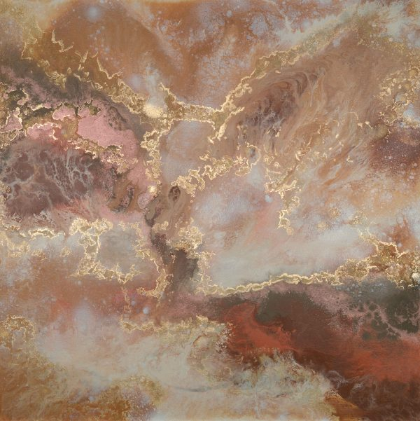 Somewhere in Time Limited Edition Print Earthy Reds gold Sarah Malone