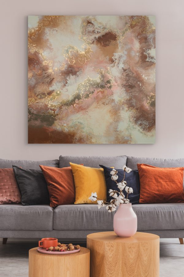 Somewhere in Time III Limited Edition Print Earthy Reds gold Sarah Malone